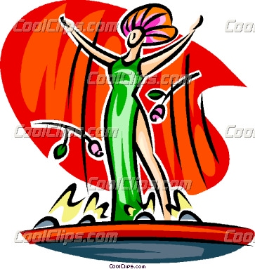 Actor On Stage Clipart.
