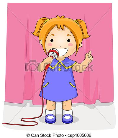 Stock Illustration of On Stage.