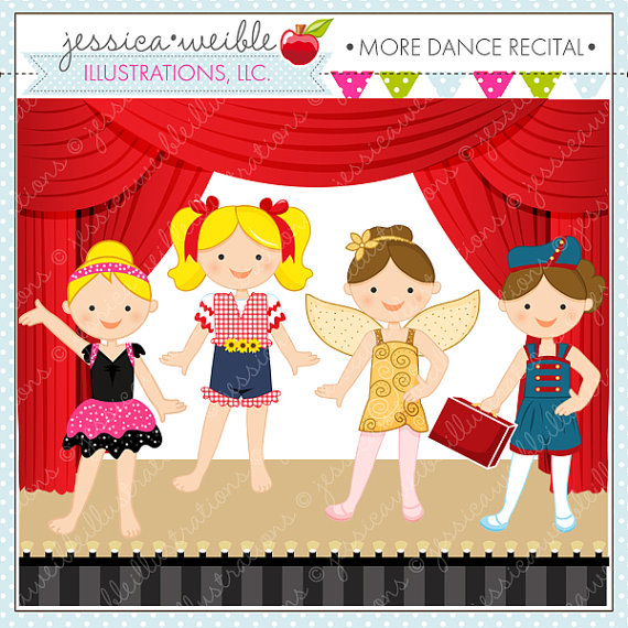 Kids Dancing On Stage Clipart.