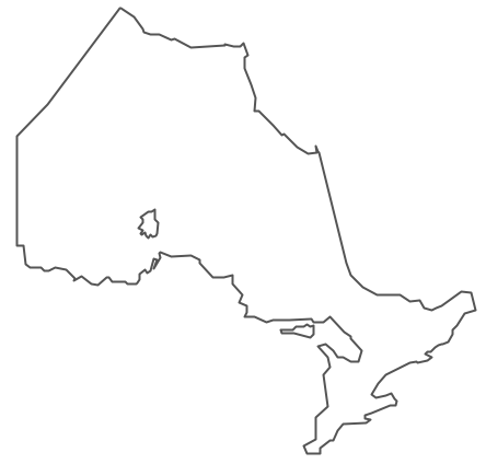 Clipart map of ontario.