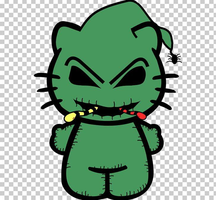 Oogie Boogie Hello Kitty Jack Skellington Art Drawing PNG.