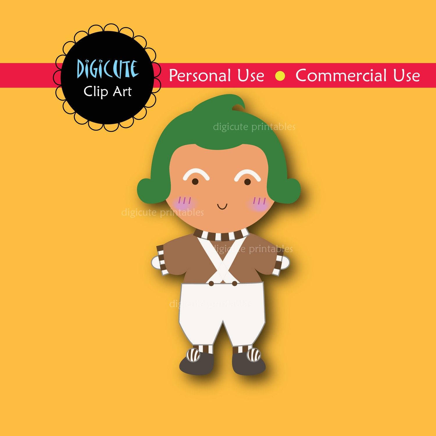 Oompa Loompa from Charlie and the Chocolate Factory Digital.