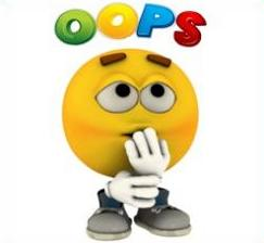 Free Oops Clipart.