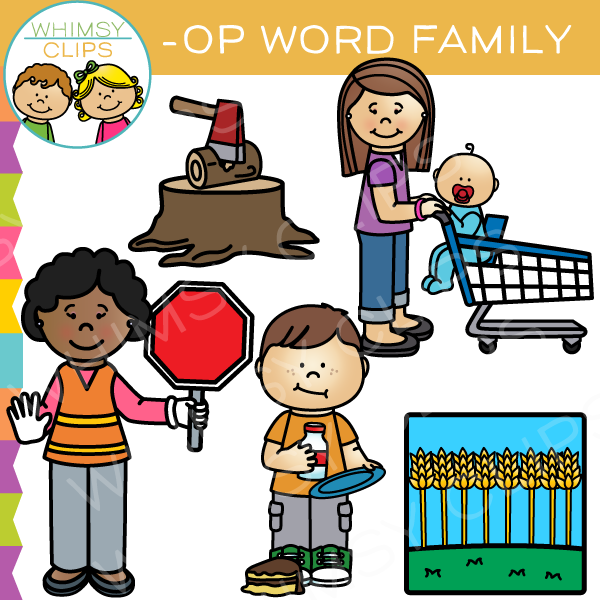 Word family clip art , Images & Illustrations.