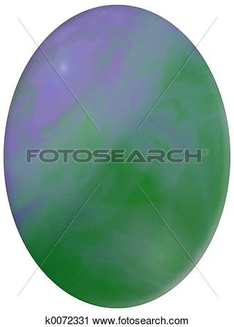 Green opal clipart.