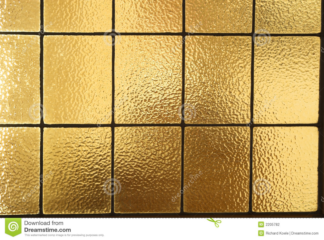 Amber Window Panes Horizontal Stock Photography.