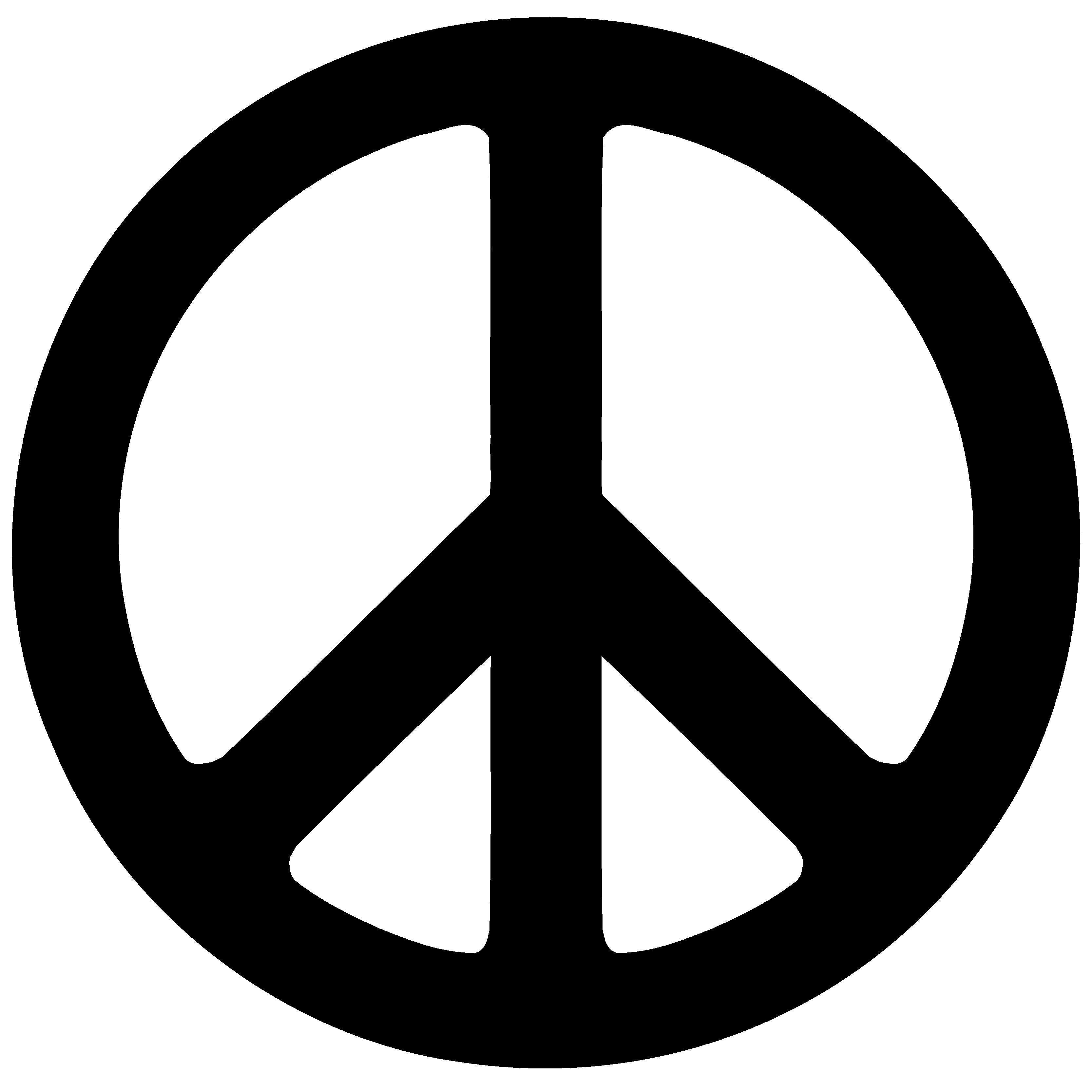Opaque Peace Symbol Clipart.