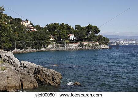 Stock Photography of Europe, Croatia, Istria, Kvarner Gulf, View.