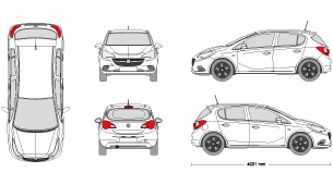 Opel astra clipart #15