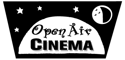 Open Air Cinema logos, company logos.