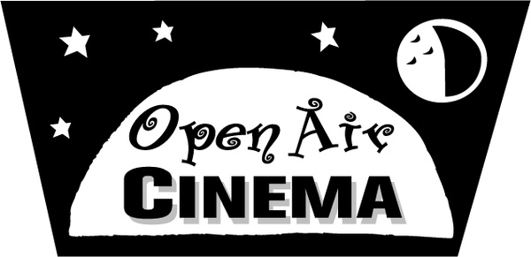 Open air cinema Free vector in Encapsulated PostScript eps ( .eps.