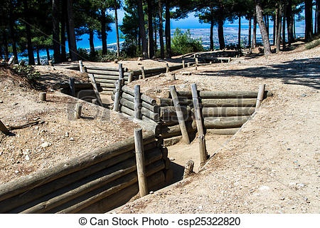 Stock Photo of Open Air Museum of Trenches in Canakkale.