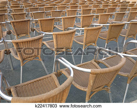 Stock Photo of Row of chair seats in open air theater k22417803.