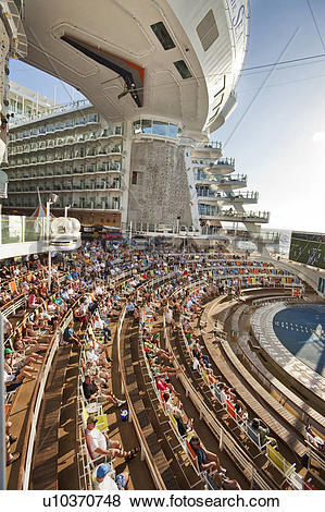 Pictures of Open air theatre on deck 6 of Royal Caribbean's cruise.
