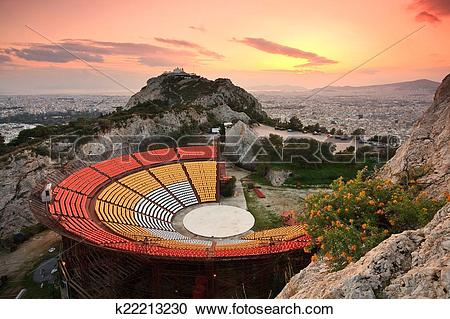 Stock Photography of Open air theatre, Athens. k22213230.