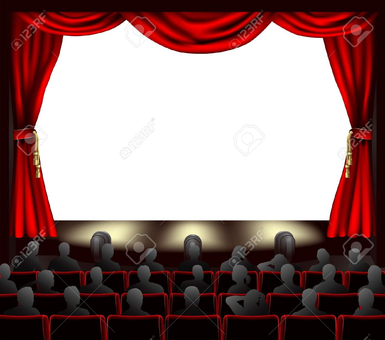 Movie curtains clipart.