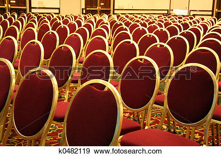 Stock Photograph of Open Seating at an Auditorium k0482119.