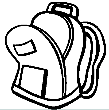 Open backpack clipart.