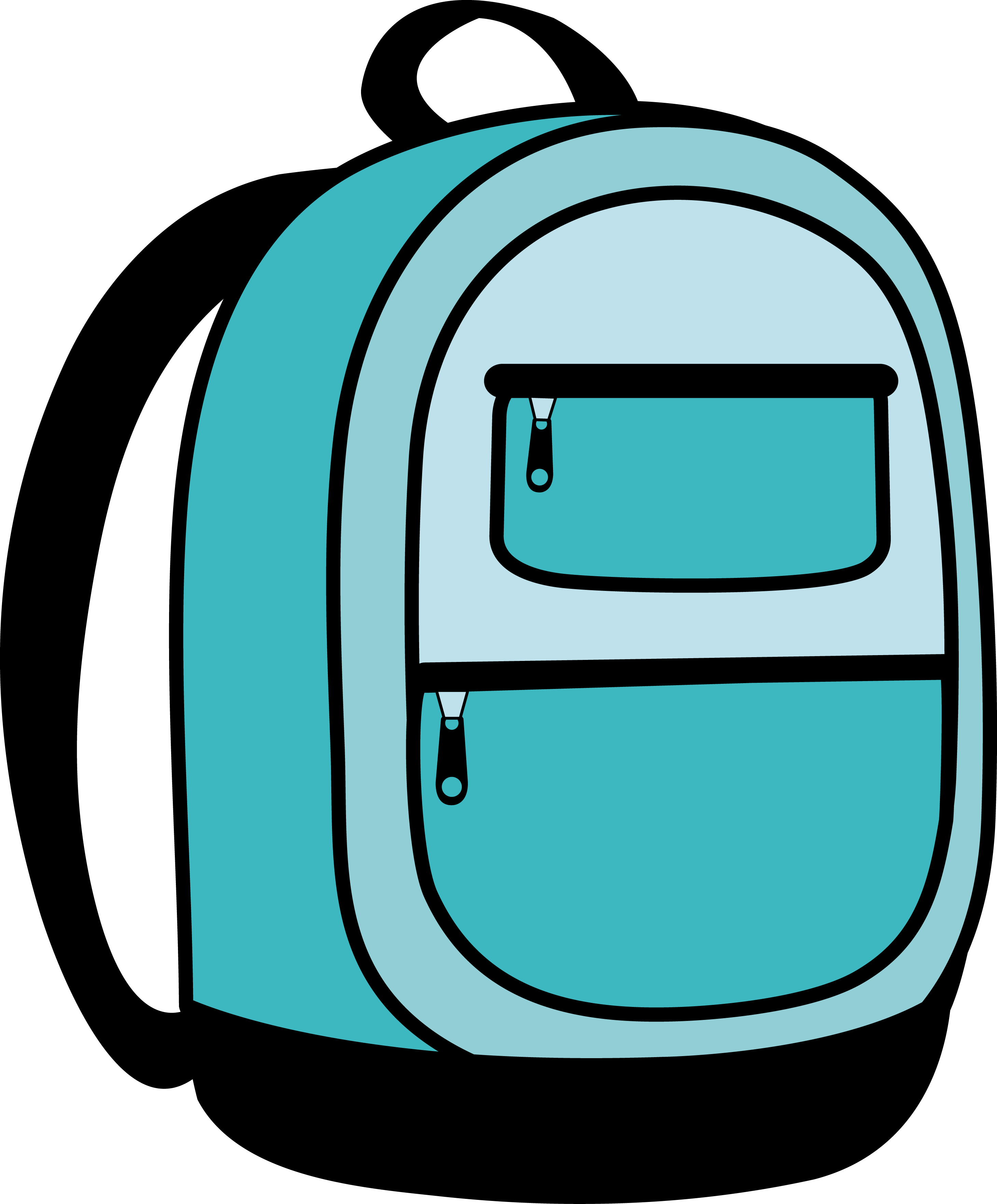 Open backpack clip art clipart images gallery for free.