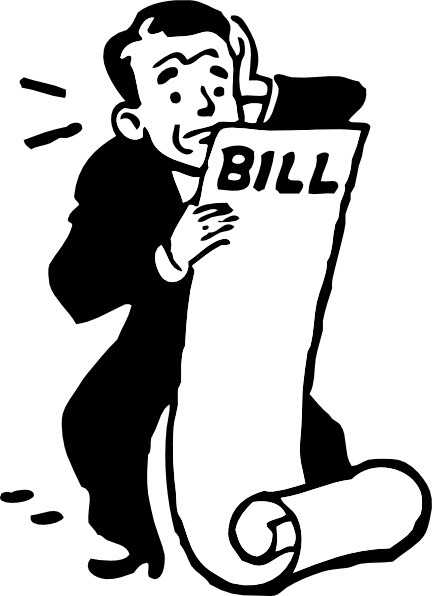 Worried About A Bill clip art Free vector in Open office drawing.