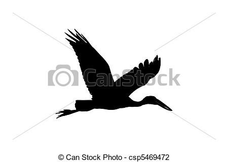 Stock Photo of Asian Open Bill Stork.