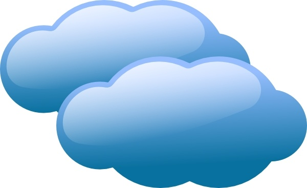 Blue Clouds clip art Free vector in Open office drawing svg ( .svg.