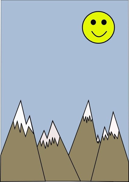 Mountains With Blue Sky clip art Free vector in Open office.