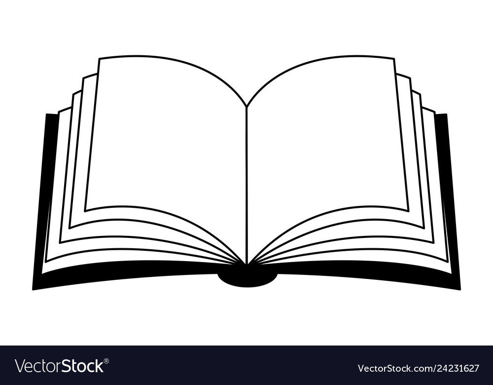 Open book clipart silhouette symbol icon design.