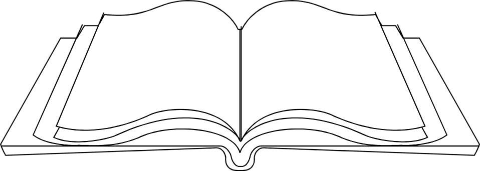 PNG Open Book Black And White Transparent Open Book Black.