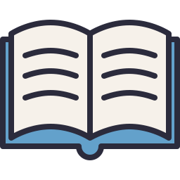 Open Book Icon Outline Filled.
