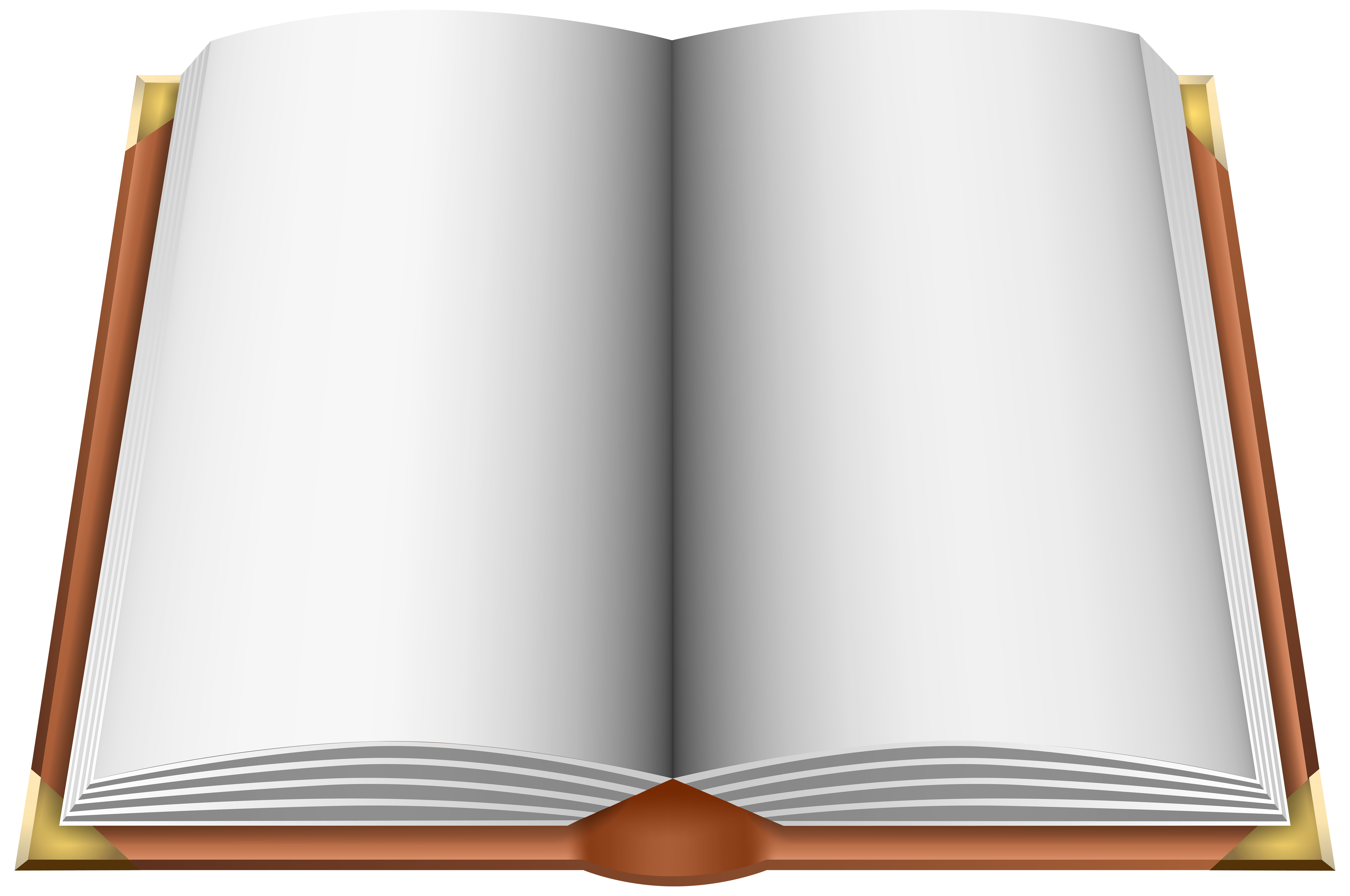 Open Book Brown PNG Clip Art Image.