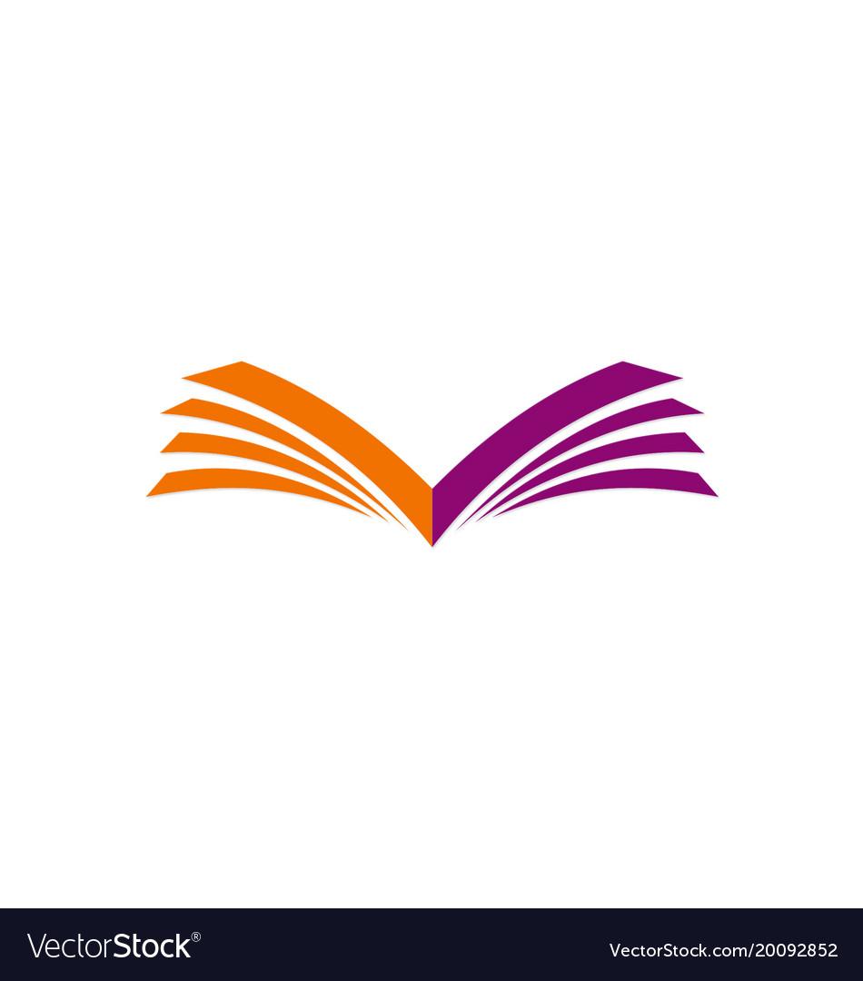 Open book letter v logo.