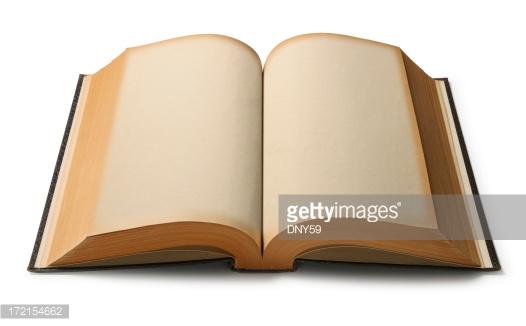 Open Book Stock Photo.