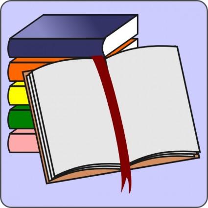 Open Book Clip Art Template.