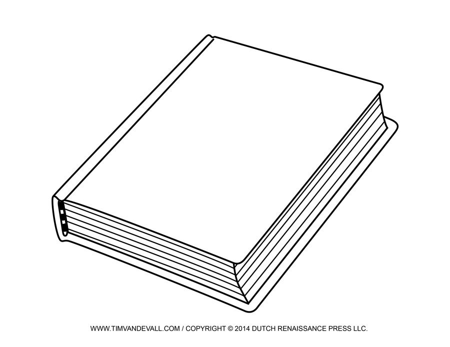 Free Blank Book Cover Template Book Report Reading Clip Art.