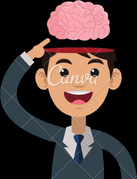 Person Icons Brain.