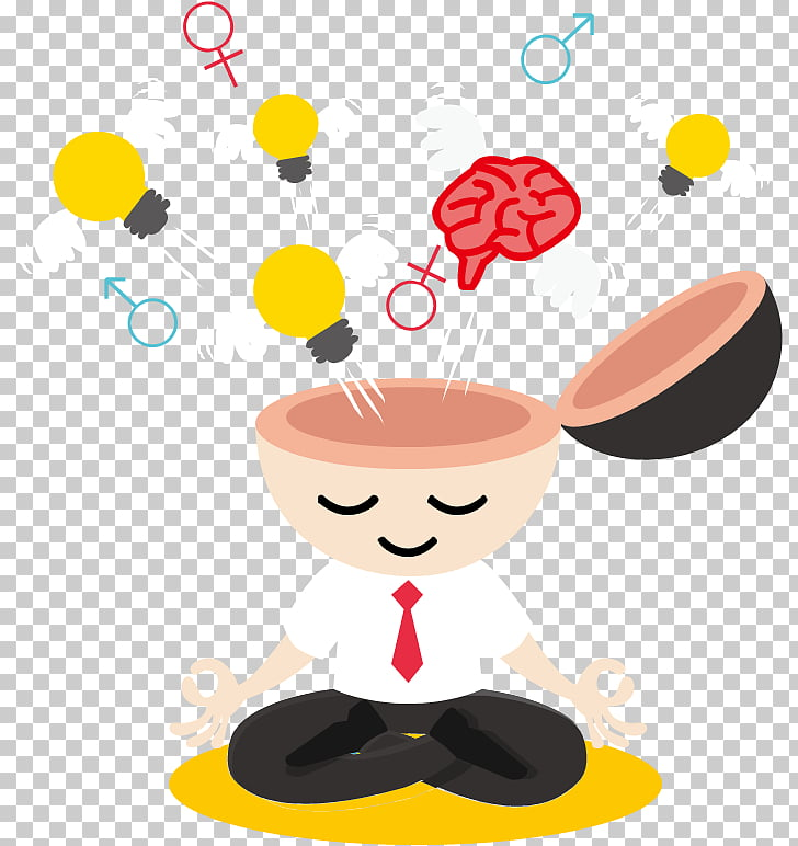 Mindfulness Creativity Innovation, Brain hole wide open PNG.