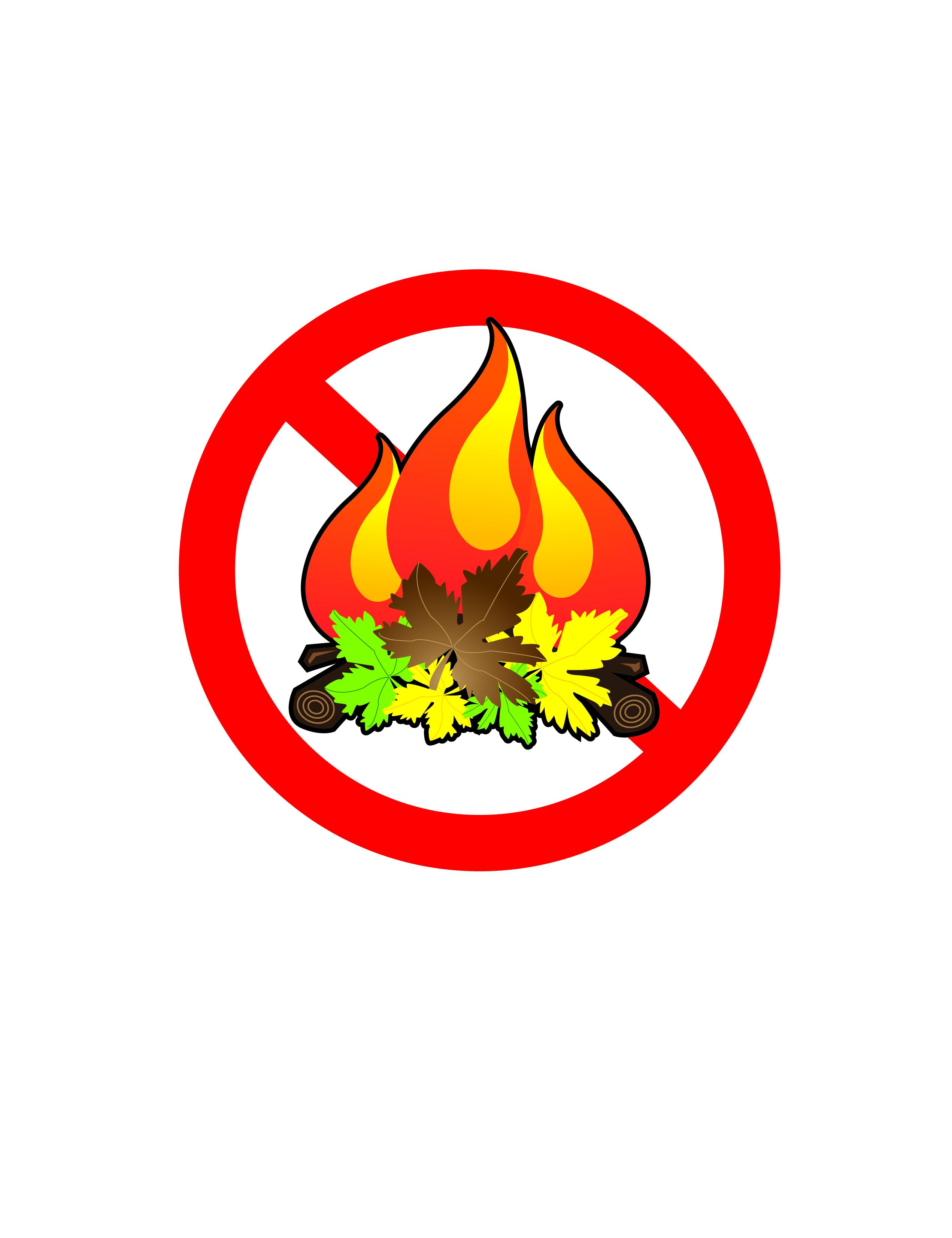No burn sign clipart.