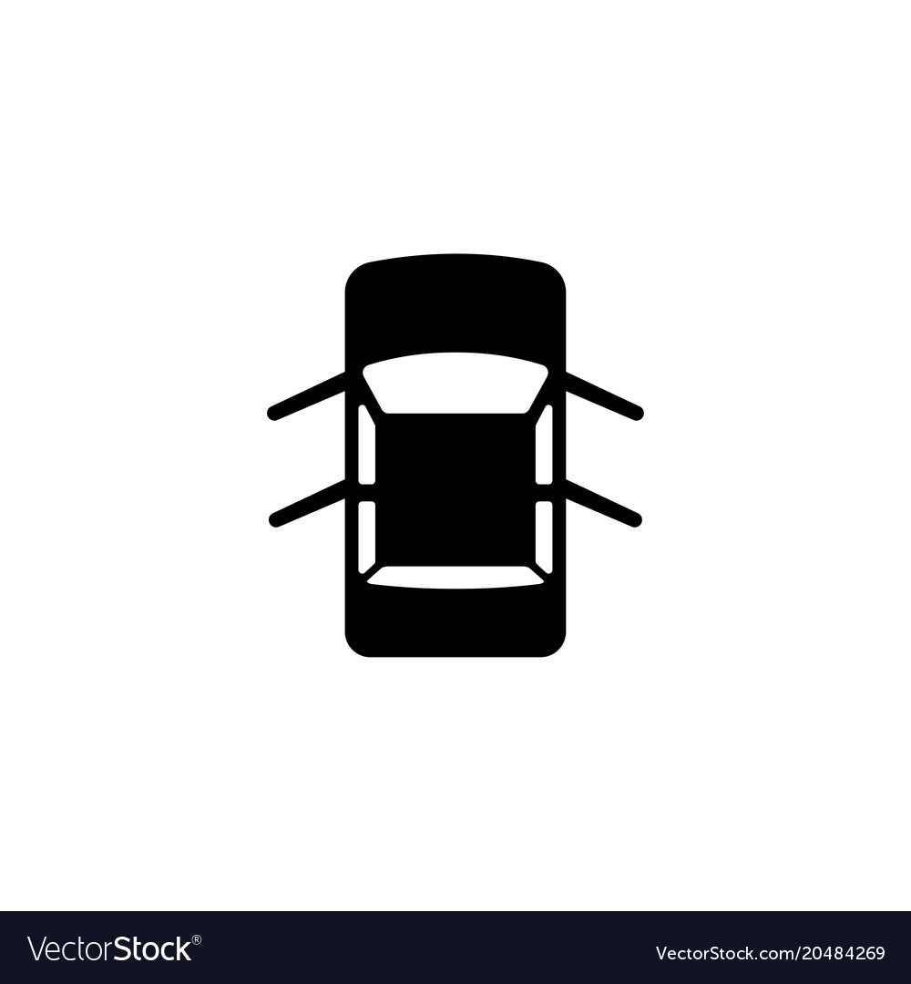 Car with open doors flat icon.