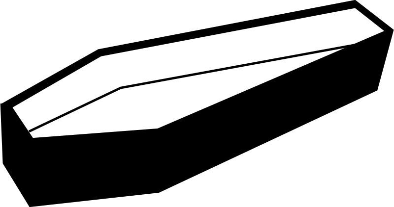 Free Clipart: Open coffin.
