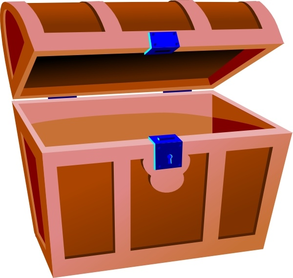 Treasure Chest clip art Free vector in Open office drawing.