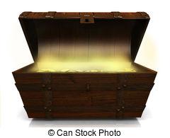Open Treasure Chest Clipart.