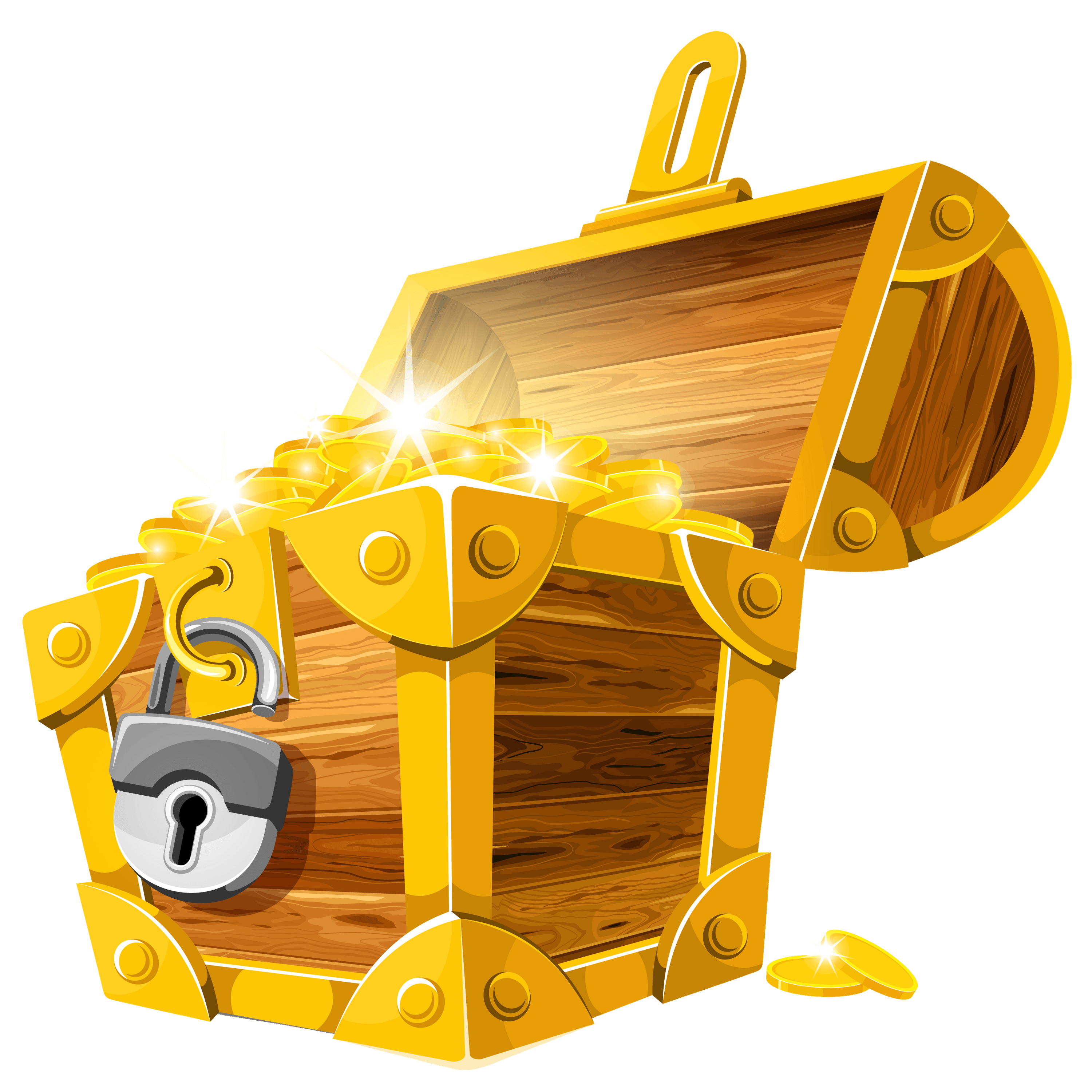 Open Chest With Lock transparent PNG.