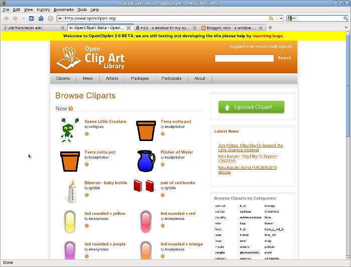 nicu's FOSS'n'stuff: OCAL 2.0: Finally, an usable Open Clip Art.