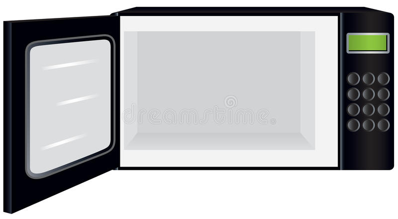 Open Microwave Clipart.