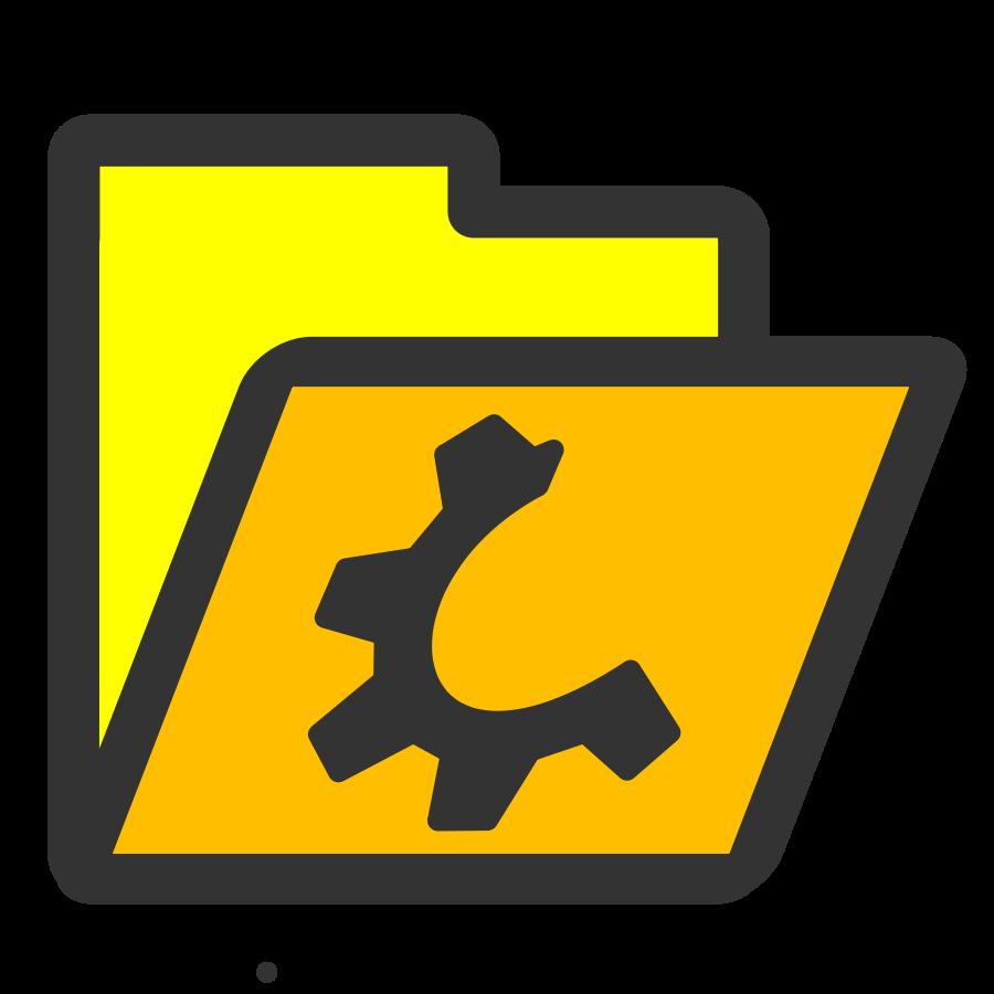Folder yellow open Clipart, vector clip art online, royalty.