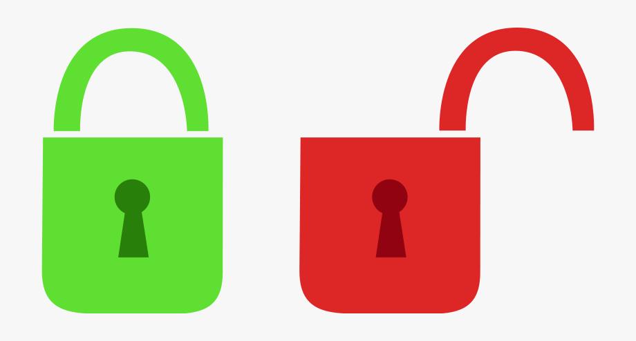 Lock Icon Open Close, Cliparts & Cartoons.