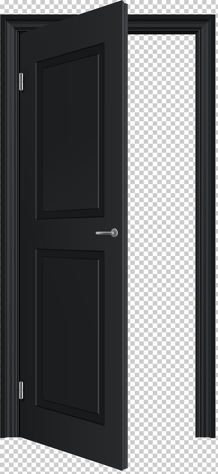 Door , Open door , black wooden door PNG clipart.