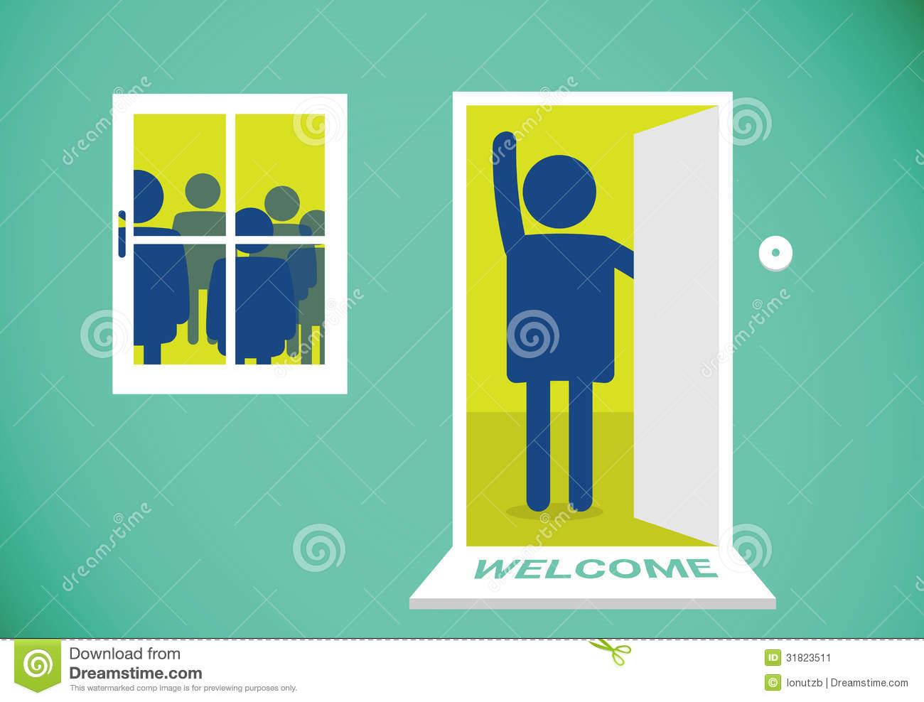 Open Door Welcome : Open door welcome clipart clipground