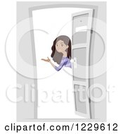 open door welcome front clipart of welcoming black tenage girl at an open door royalty free vector illustration open door welcome clipart clipground